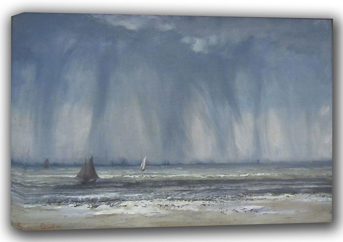 Courbet, Gustave: Marine Seascape Fine Art Canvas. Sizes: A3/A2/A1 (001044)